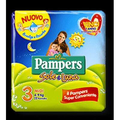 PAMPERS PANNOLINI SOLE E LUNA 3 MIDI 4-9 KG 20 PZ.