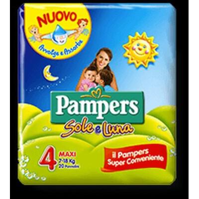 PAMPERS PANNOLINI SOLE E LUNA 4 MAXI 7-18 KG 18 PZ.