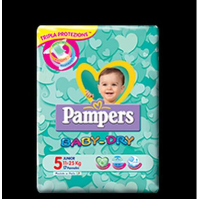 PAMPERS PANNOLINI BABY DRY 5 JUNIOR 11-25 KG 17 PZ