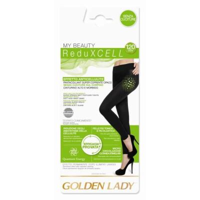 GOLDEN LADY PANTACOLLANT REDUXCELL 120 DENARI TAGLIA L COLORE NERO