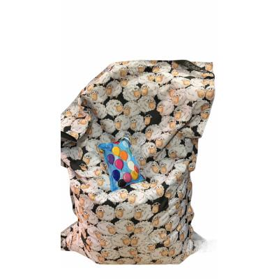 Poltrona Seduta  100x140 cm in Poliestere Nazionale Idrorepellente con doppia cucitura Stampe pecore. Sacco interno in nylon con cerniera. 100% Made in Italy