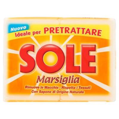 SOLE SAPONE MARSIGLIA BIANCO 2 PEZZI GR 500