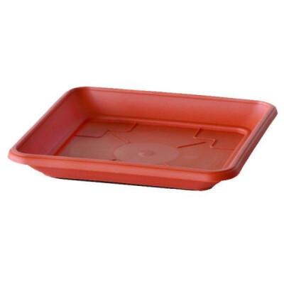 SOTTOVASO IN PLASTICA PER FIORIERE QUADRATE MAXI 32 CM