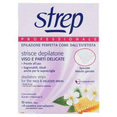 STREP 10 STRISCE DEPILATORIE VISO PROFESSIONALI