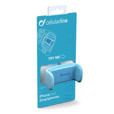 Cellularline Supporto smartphone da auto super colorato BLU