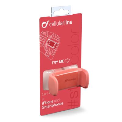 Cellularline Supporto smartphone da auto super colorato Rosa