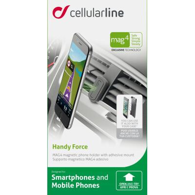 Cellularline Supporto smartphone da auto magnetico adesivo