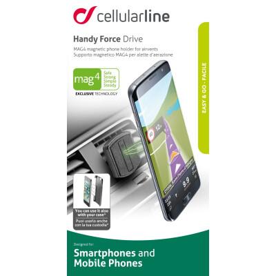Cellularline Supporto smartphone da auto magnetico per alette di aerazione Universale