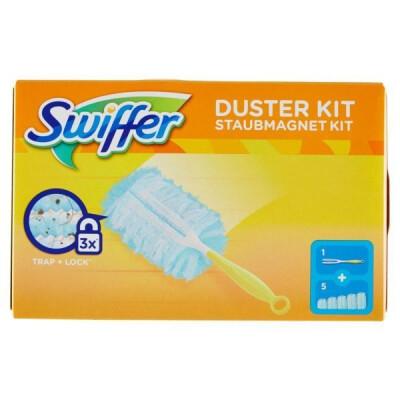 SWIFFER DUSTER SYSTEM KIT + 5 PIUMINI