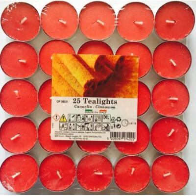 TEALIGHT X 25  PEZZI  CANNELLA