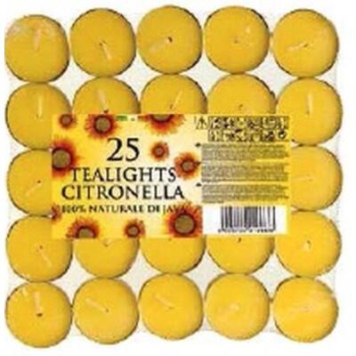 TEALIGHT CITRONELLA PANTELLERIA 25  PEZZI