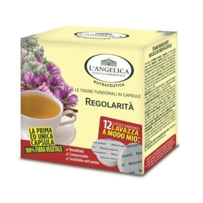 """ANGELICA TISANA IN CAPSULE REGOLARITA'  """"A MODO MIO"""" 12 CAPSULE"""