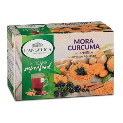 ANGELICA TISANA SUPERFOOD CURCUMA MORA & CANNELLA 18 FILTRI