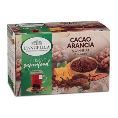 ANGELICA TISANA CACAO ARANCIA & CANNELLA 18 FILTRI