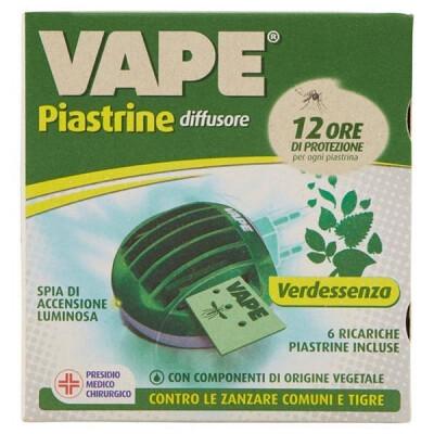 VAPE DIFFUSORE + 6 PIASTRINE VERDESSENZA