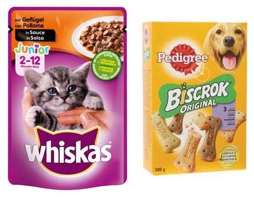 Il cibo e la cura per gli animali domestici